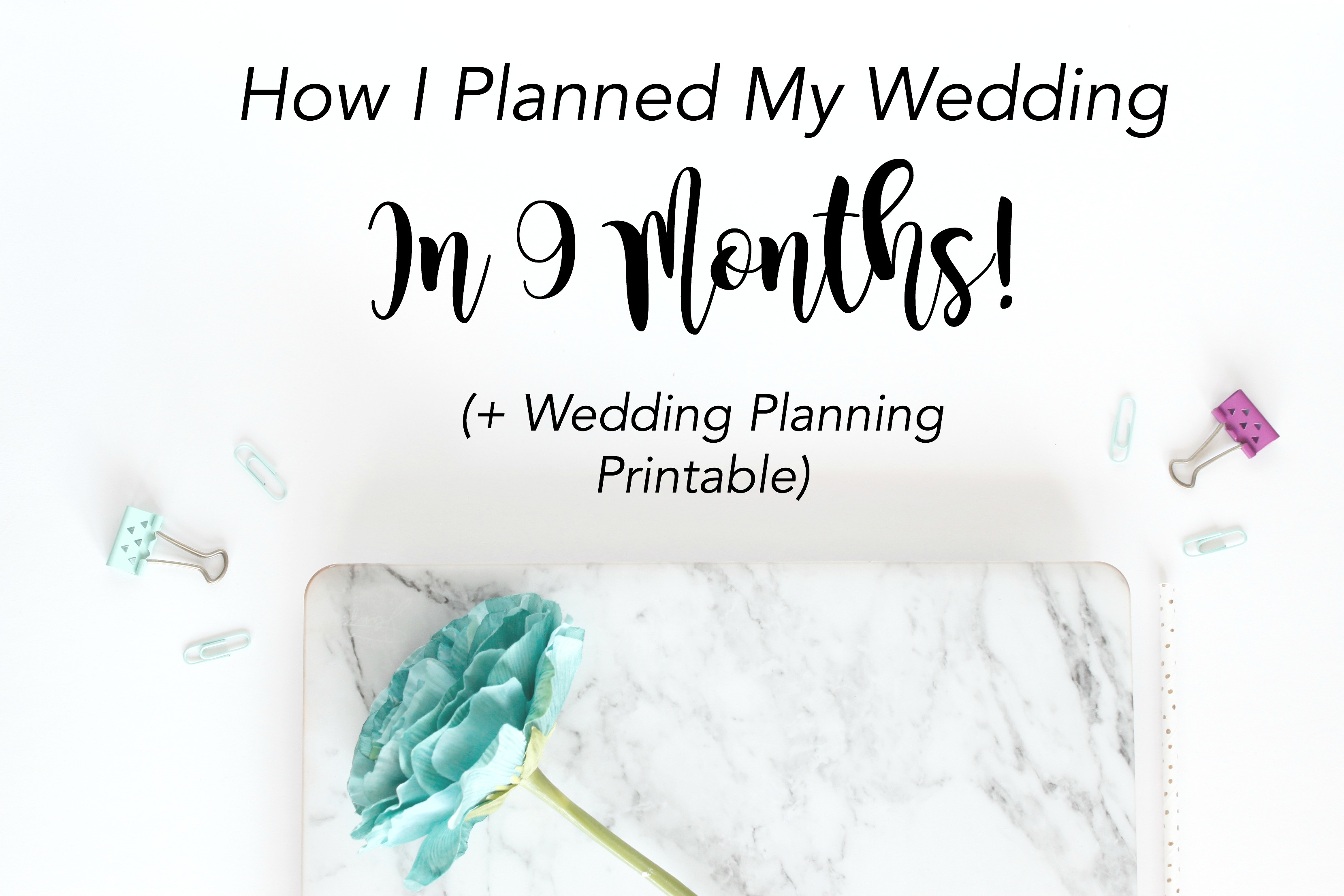 How I Planned My Wedding in 9 Months