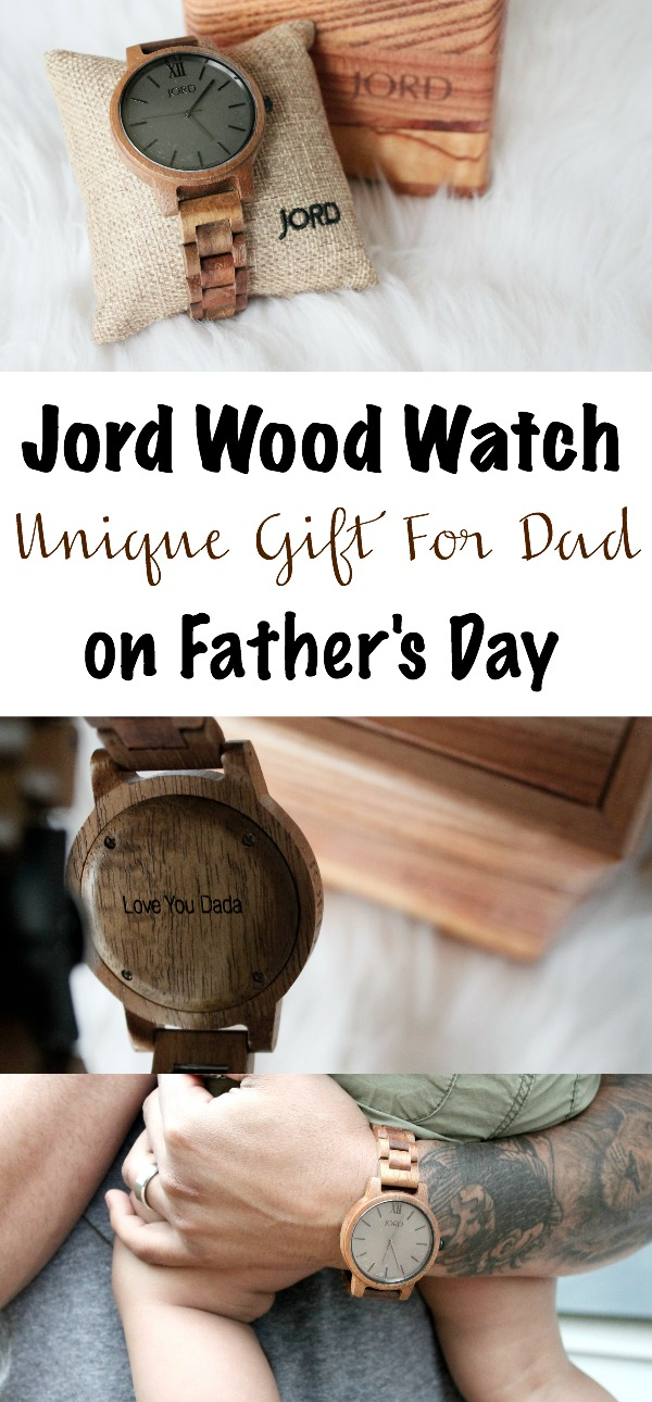 JORD Wood Watch: A Unique Engraved Gift for Father's Day - Mama Bear Bliss | www.mamabearbliss.com