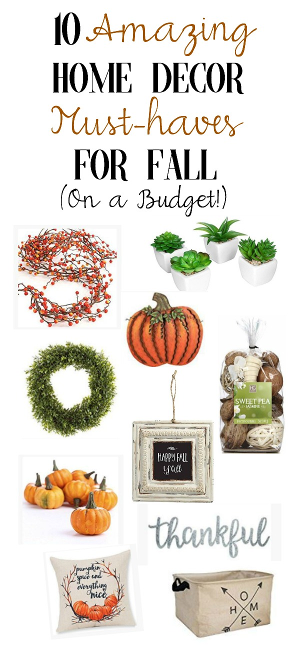10 Amazing Home Decor Must-Haves for Fall (On a Budget) | New Ideas for Rustic Fall Decor | www.mamabearbliss.com