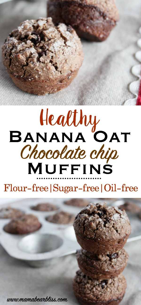 Flour-free, no sugar, and oil-free easy and healthy breakfast muffins that are delicious and packed with protein. | www.mamabearbliss.com