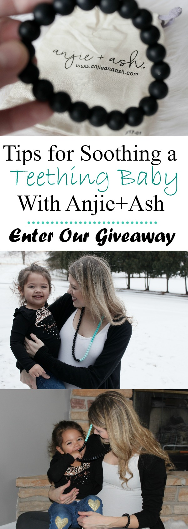 Anjie + Ash is a teething jewelry line with a mission to make the most fashionable teething jewelry soothing for both mama and baby.