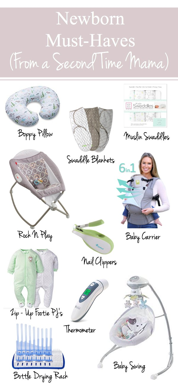 The perfect newborn must-haves guide for new moms. Here is the best checklist for essential newborn items and baby products to list on your new mom survival guide. | www.mamabearbliss.com