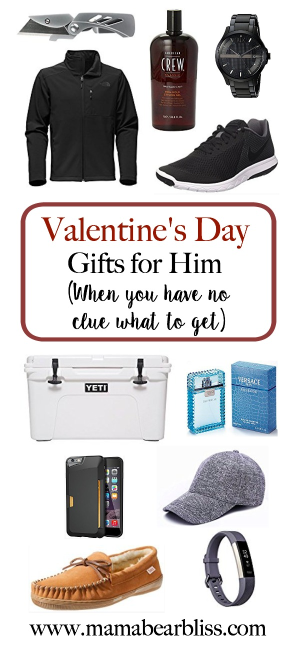 Valentine's Day Gift Guide for Him - when you don't know what to buy | www.mamabearbliss.com
